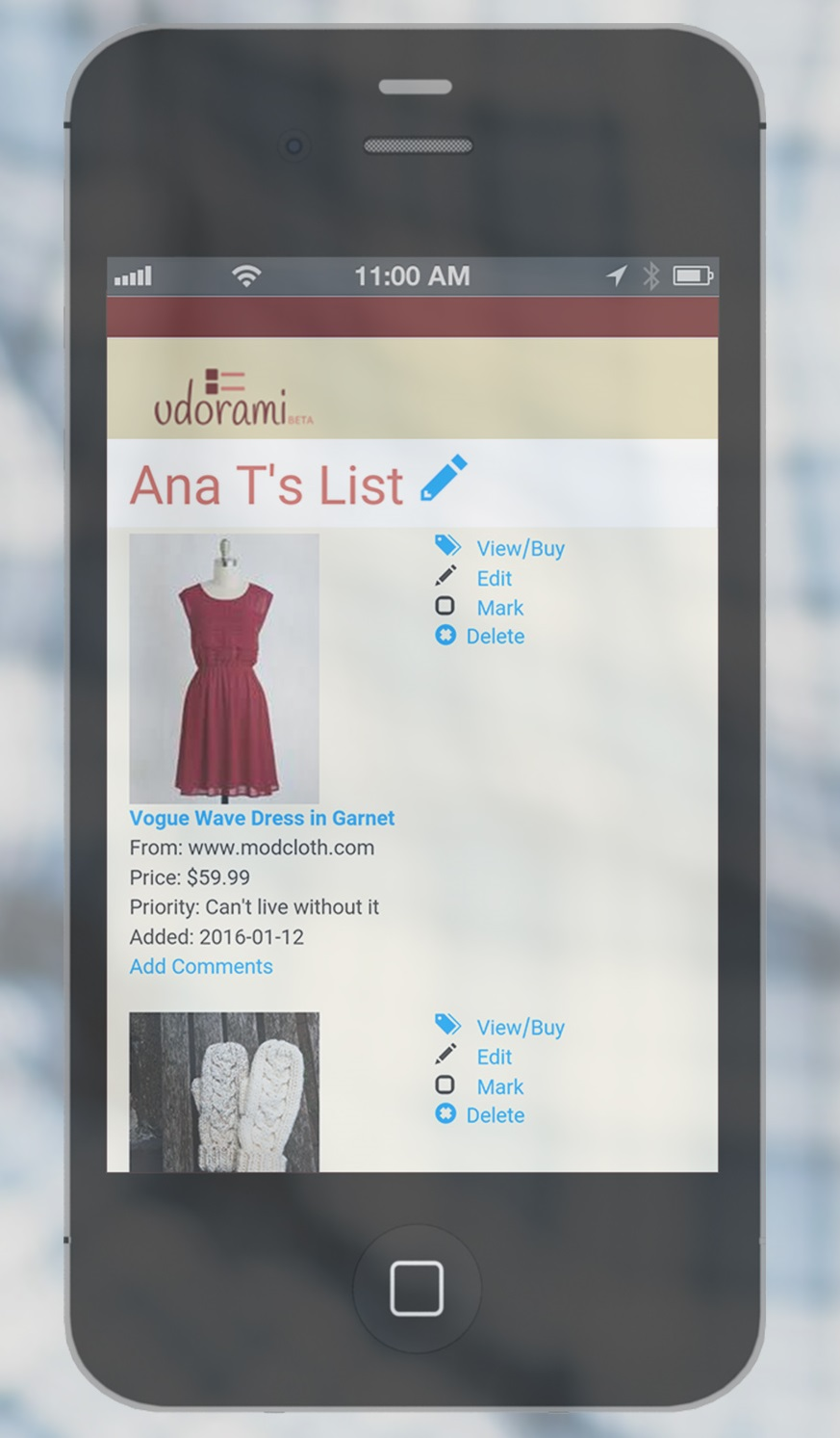 list on phone