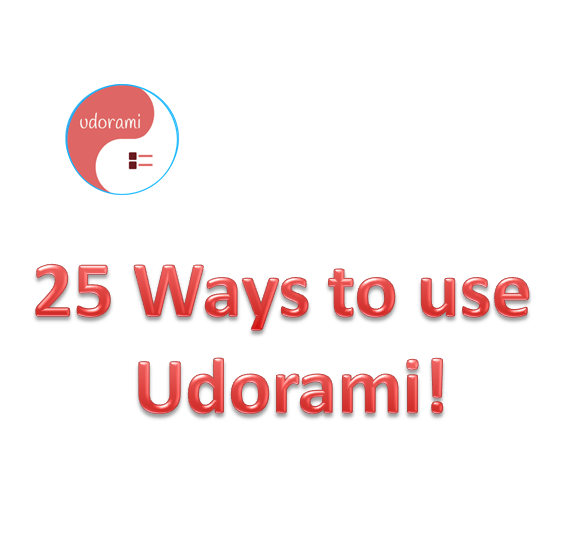 25 Ways to Use Udorami
